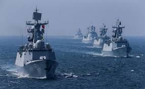 Chinese Navy ships in Indian Ocean