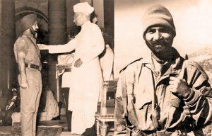 Major RS Dayal getting the Mahavir Chakra