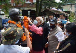 Bust of Major Sudhir Kumar Walia in Palampur