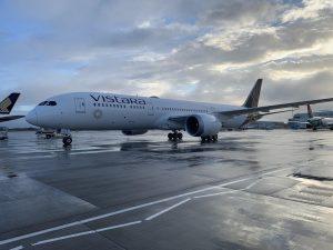 long haul Delhi-London flight