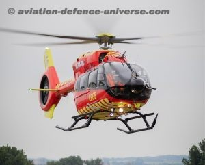 five-bladed Airbus H145 helicopter