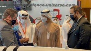 Prince of the United Arab Emirates visits IDEX