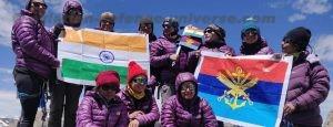 IAF flags off all women Team to Summit of Mt. Manirang