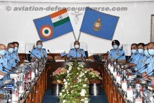 CAS, Air Chief Marshal RKS Bhadauria, addressing Commanders of EAC