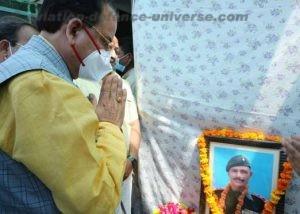 MoS(Defence) Ajay Bhatt meets family of Martyr Subedar Ram Singh