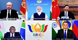 Indian PM Narendra Modi chairs the 13th BRICS Summit