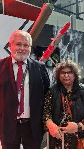 Editor ADU Sangeeta Saxena with Vladimir Lepin