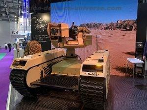 Hornet and Milrem Robotics exhibit a new combat UGV at DSEI