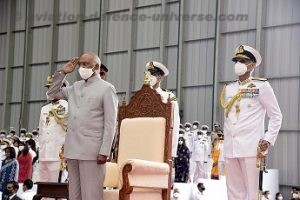 Indian Navy's Naval Aviation wing honoured with Presidents Colours