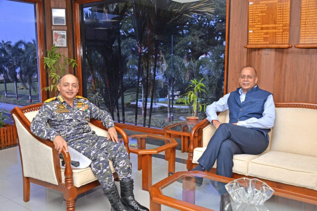 Indian Defence Secretary reviews Southern Naval Command