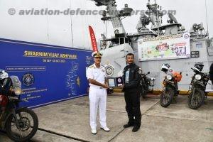 Victory Ride reaches K22 Squadron Mumbai