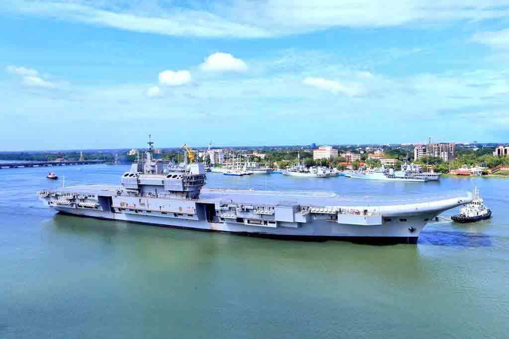INS Vikrant on Sea Trials