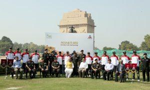 Shri Rajnath Singh described the 'India @75 BRO Motorcycle Expedition